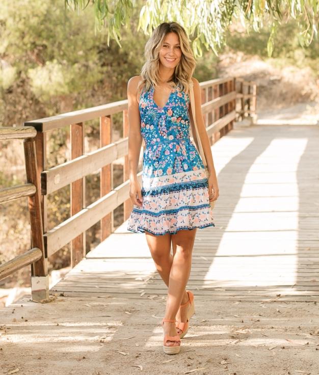 Vestido Camira - Azul