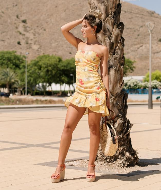 Dress Miara - Yellow