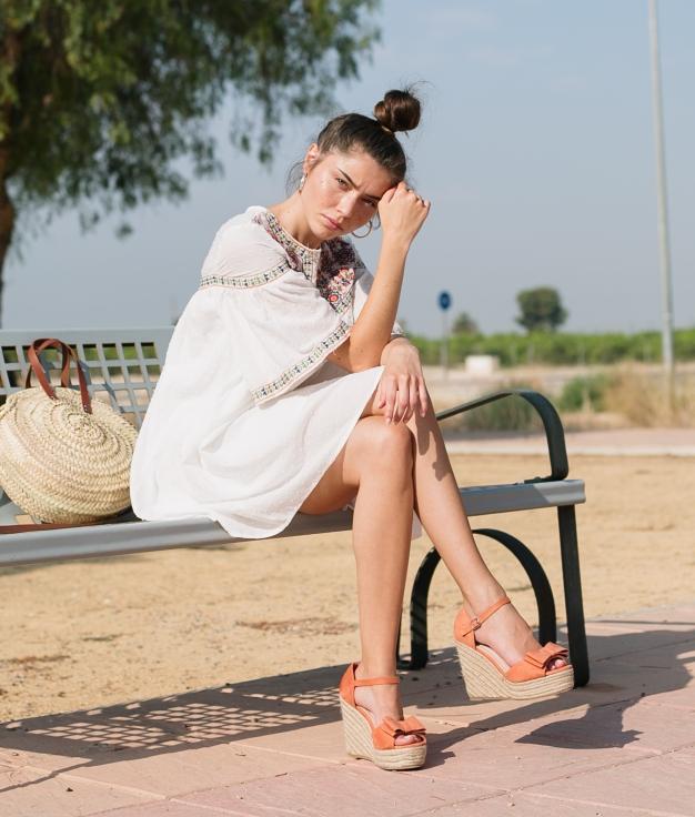 Dress Basil - White
