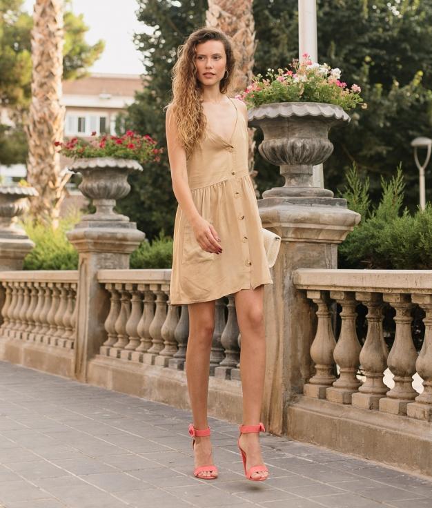 Vestido Aplaro - Oro