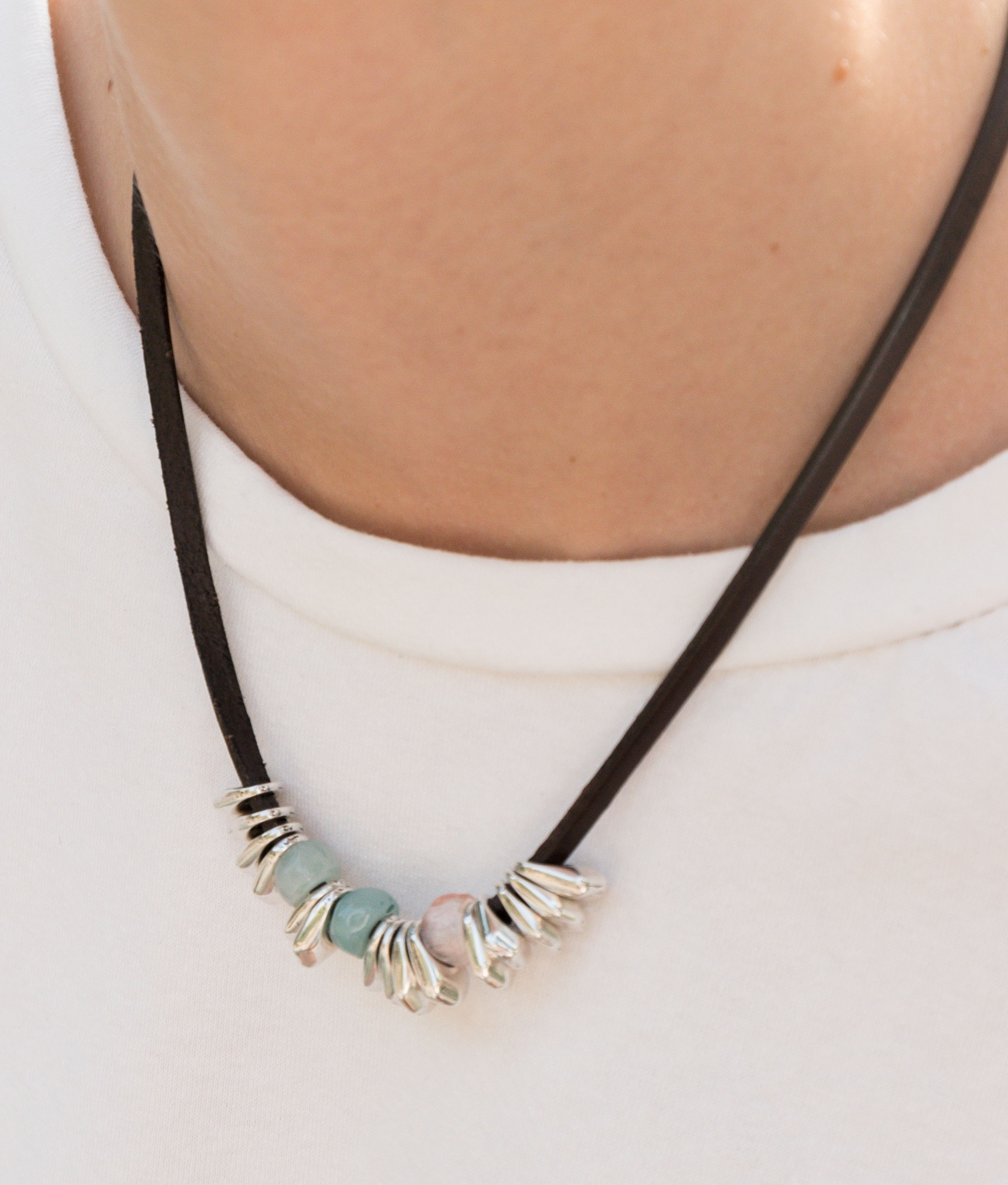Collier Chiribitas - Aigue-marine