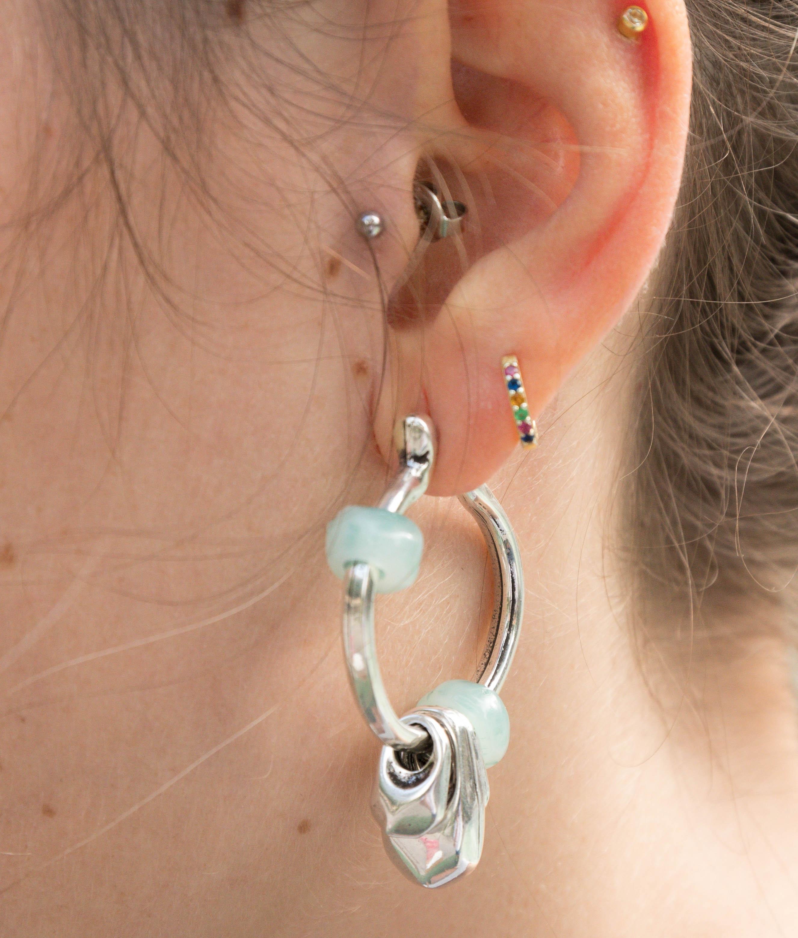 Earrings Chiribitas - Aquamarine