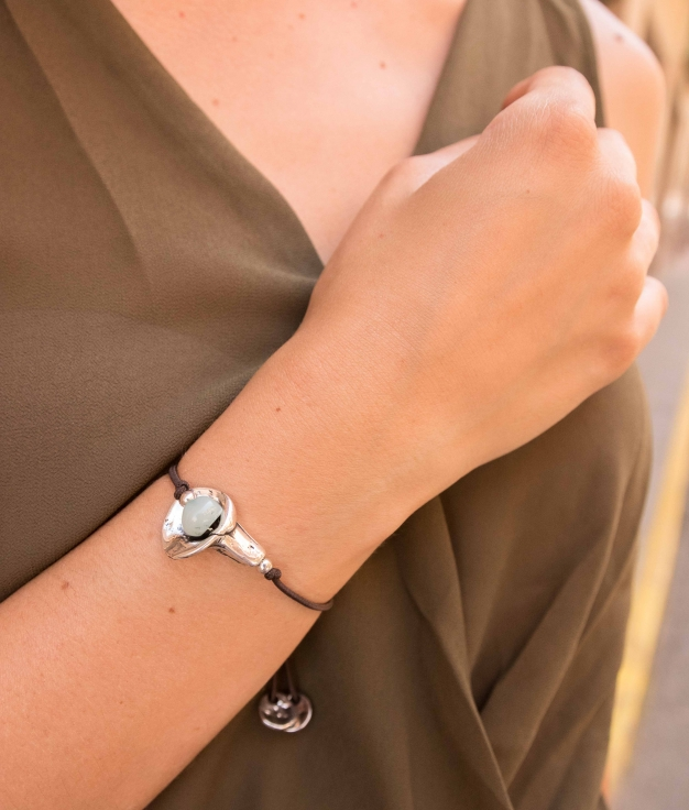 Bracelet Amapola - Aquamarine