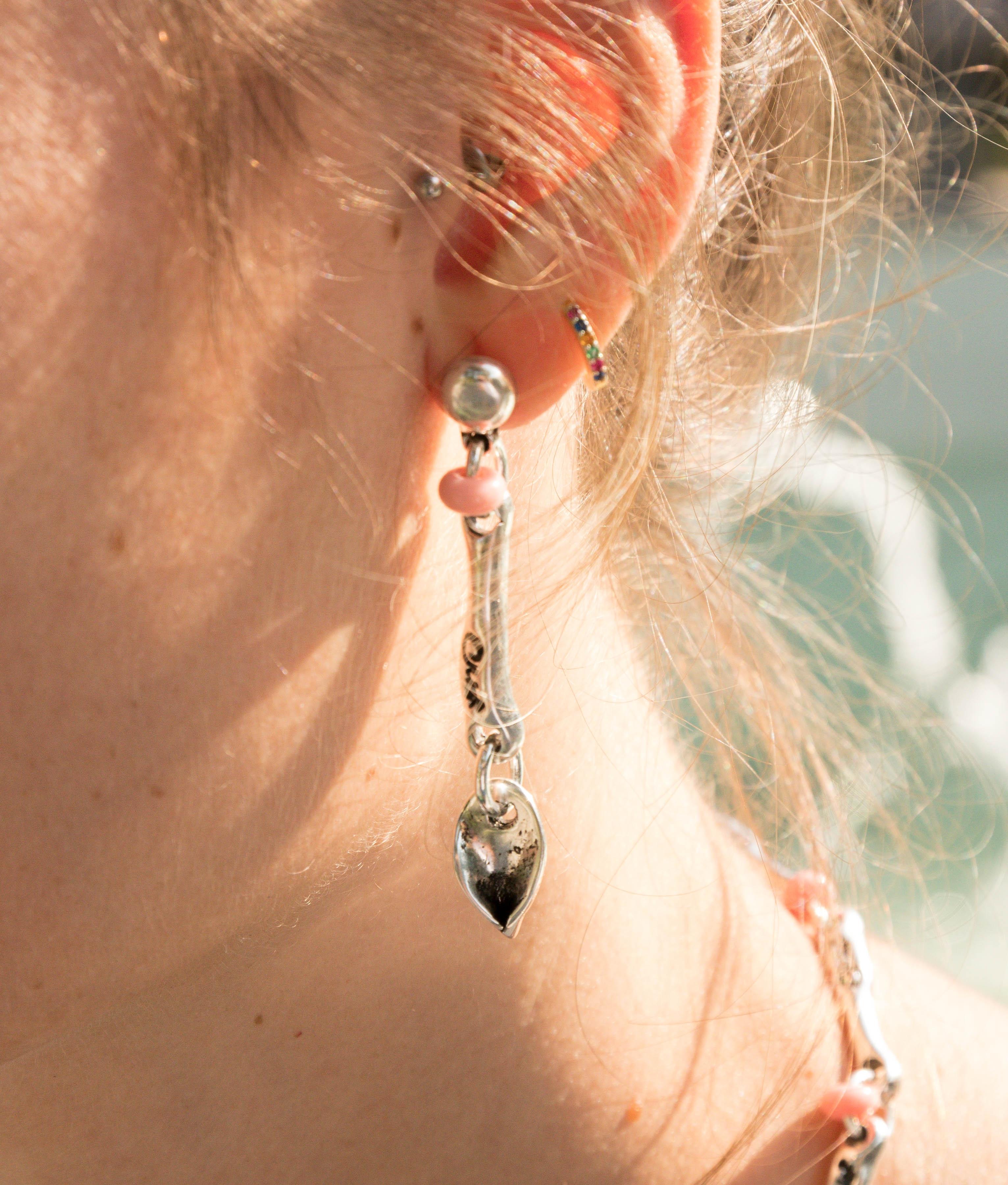 Earrings C de María - Rosa