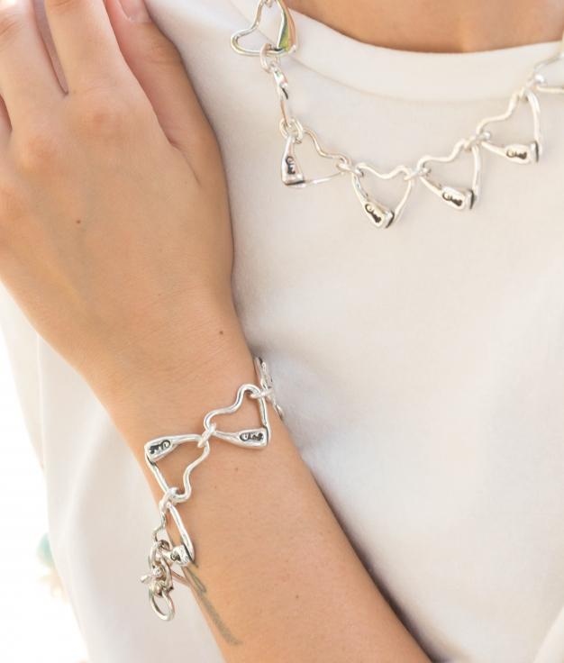 Bracelet C de María - Argent