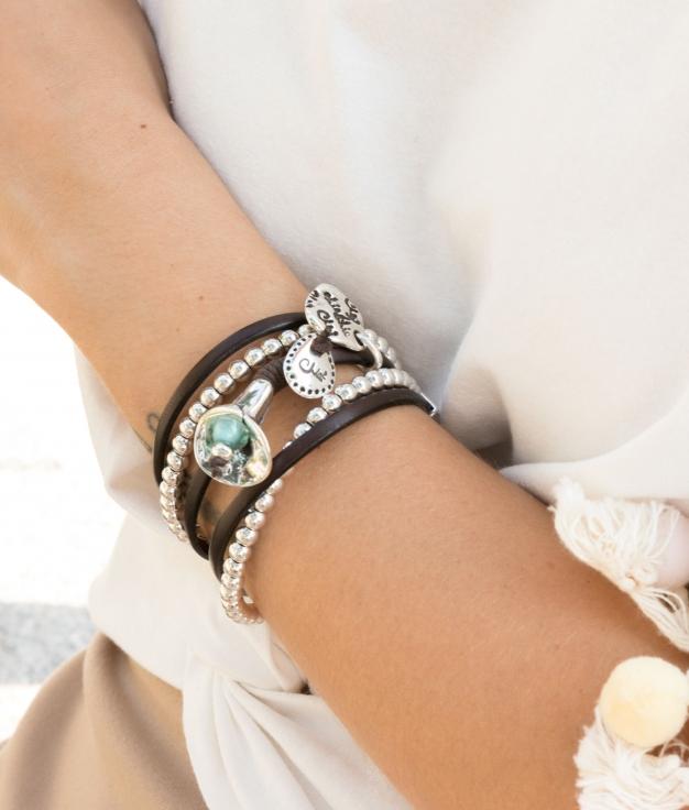 Bracelet Opio - Aigue-marine