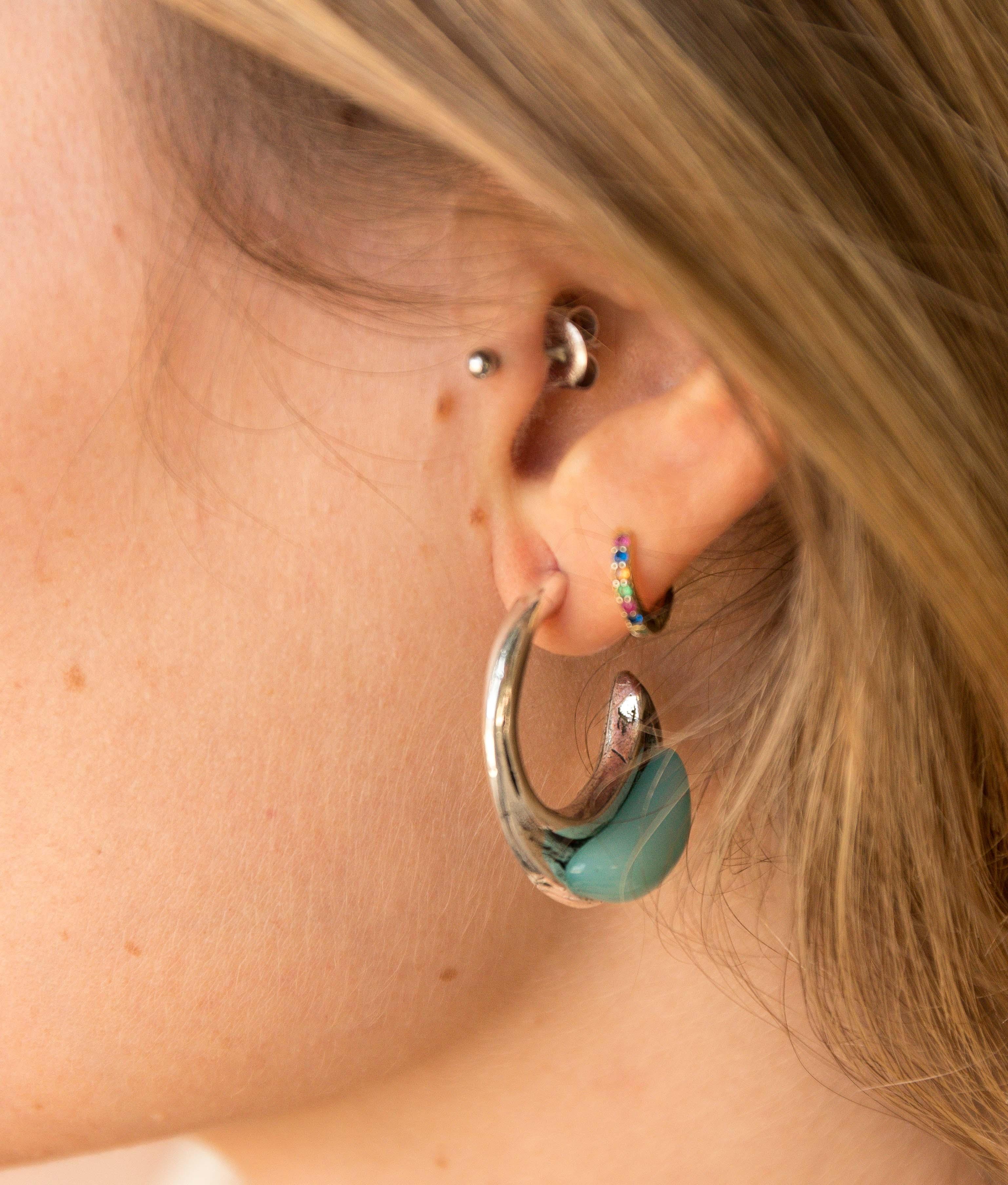 Earrings Mimosa - Aquamarine