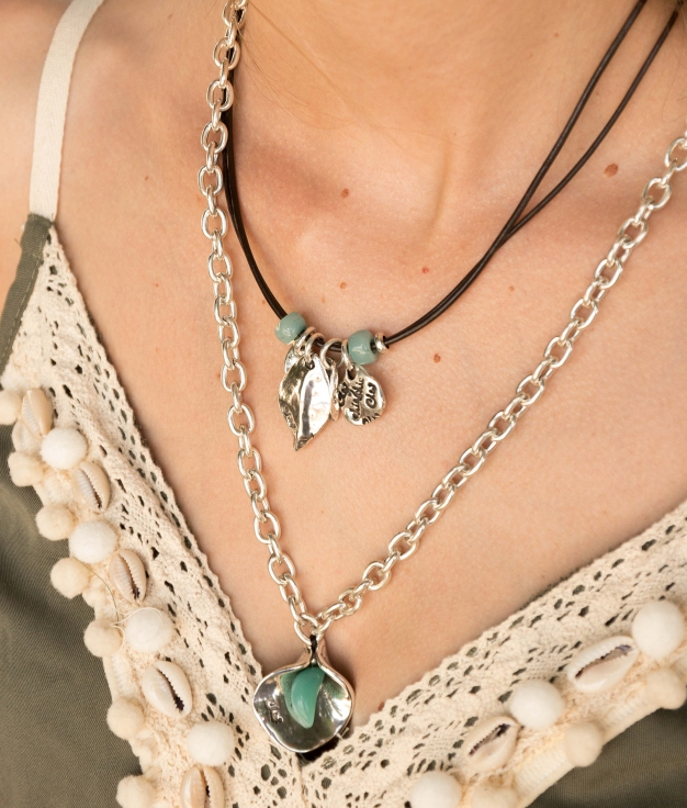 Necklace Mimosa - Aquamarine