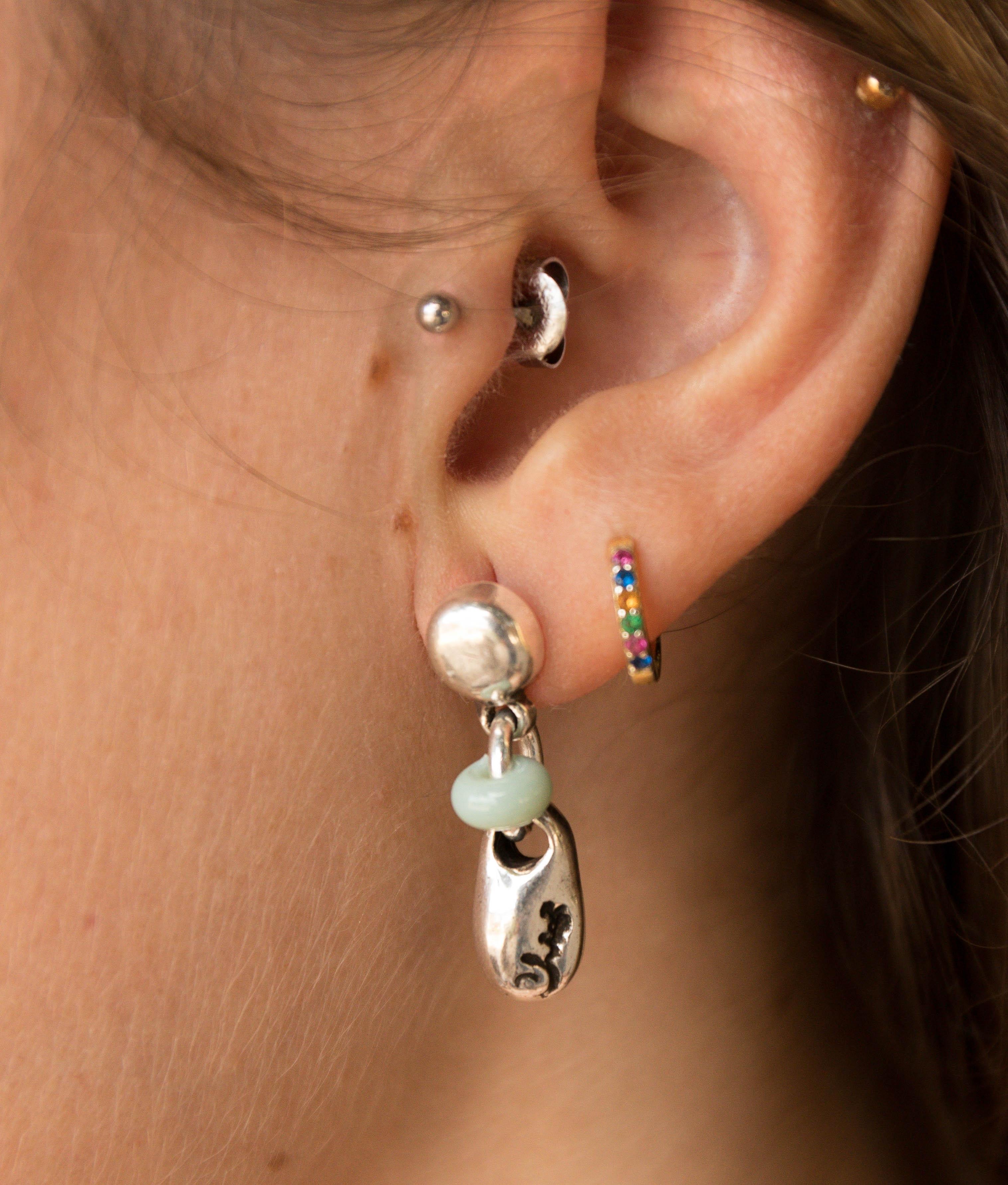 Earrings Menta - Aquamarine