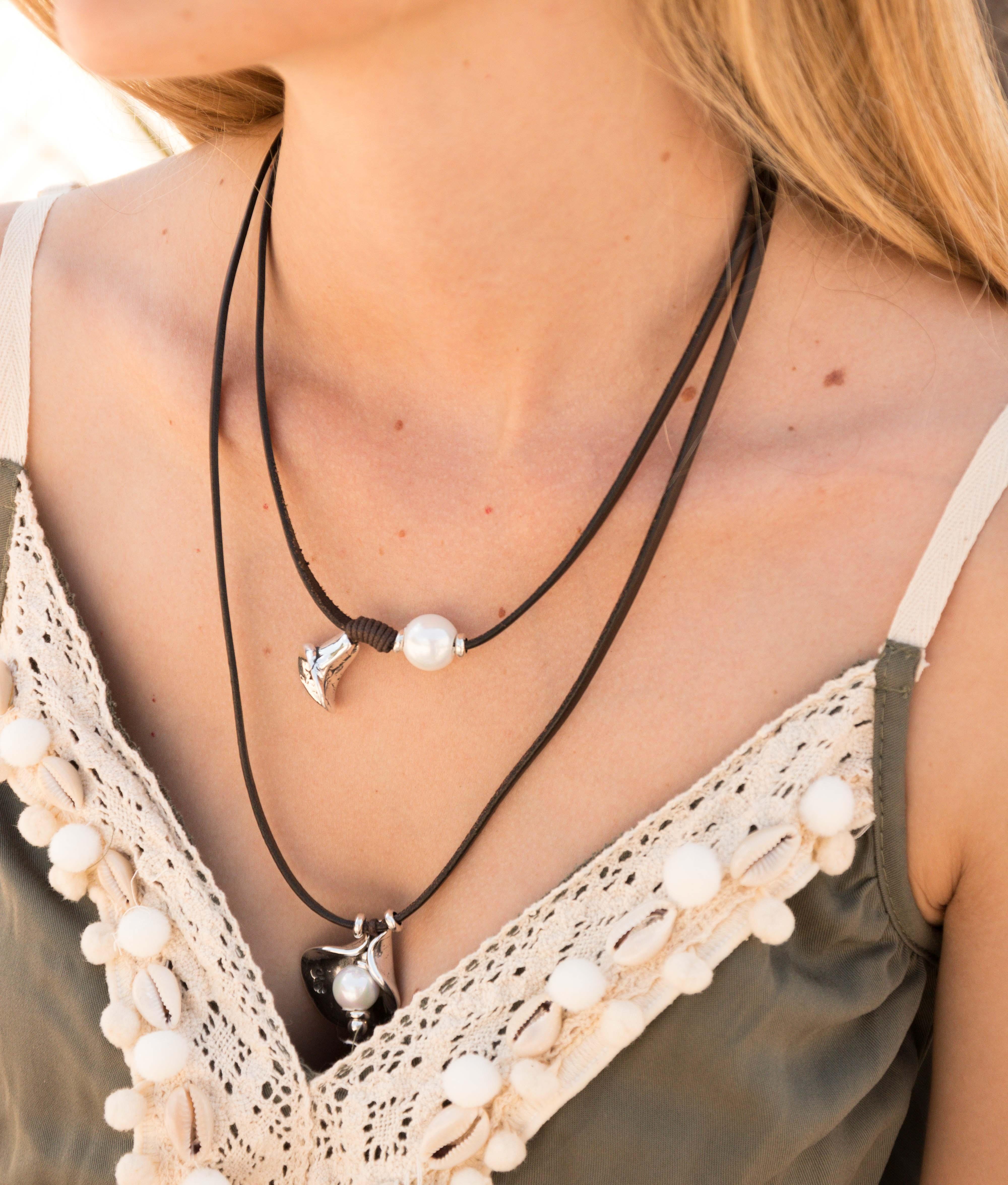 Necklace Flor de Perla - Silver
