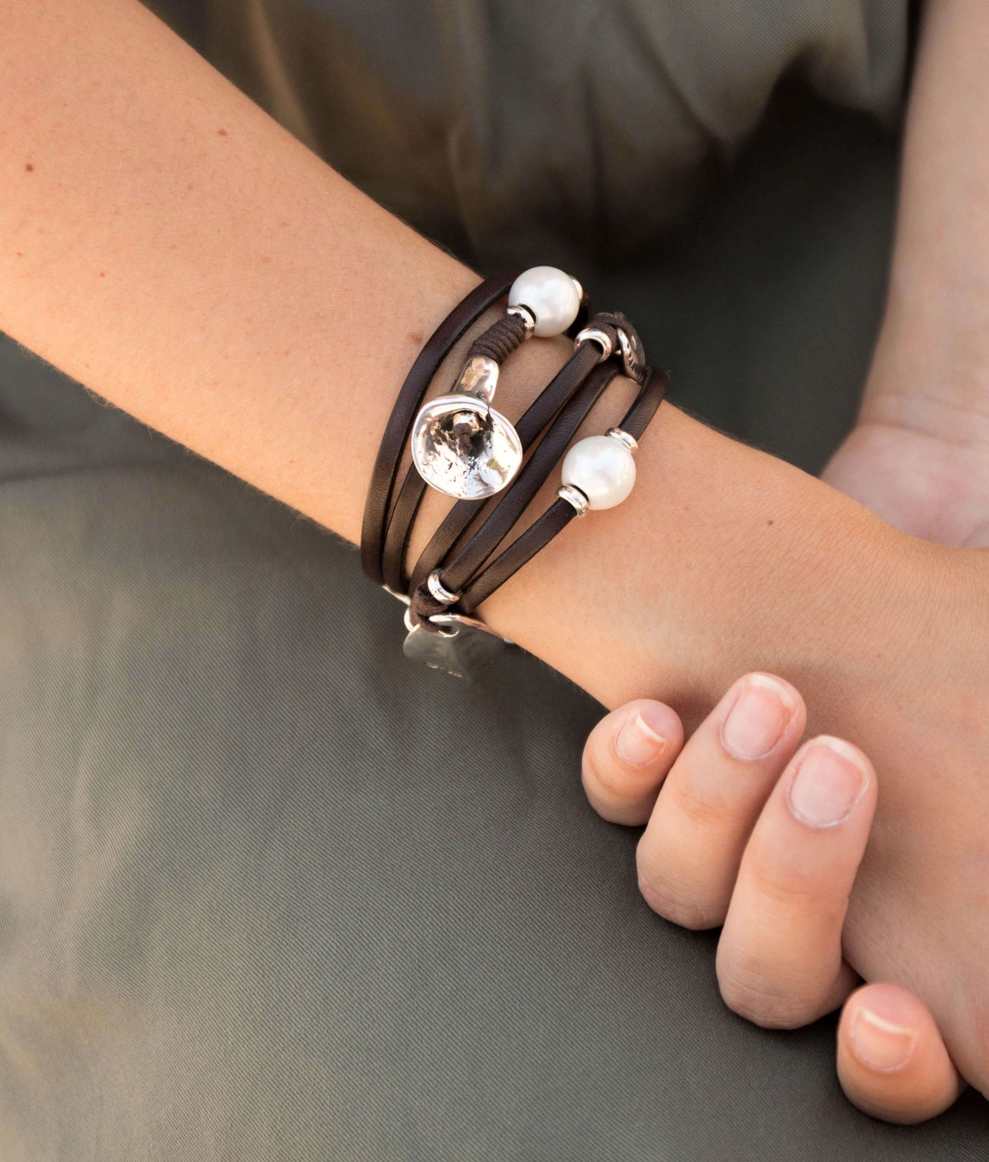 Bracelet Flor de Perla - Argent