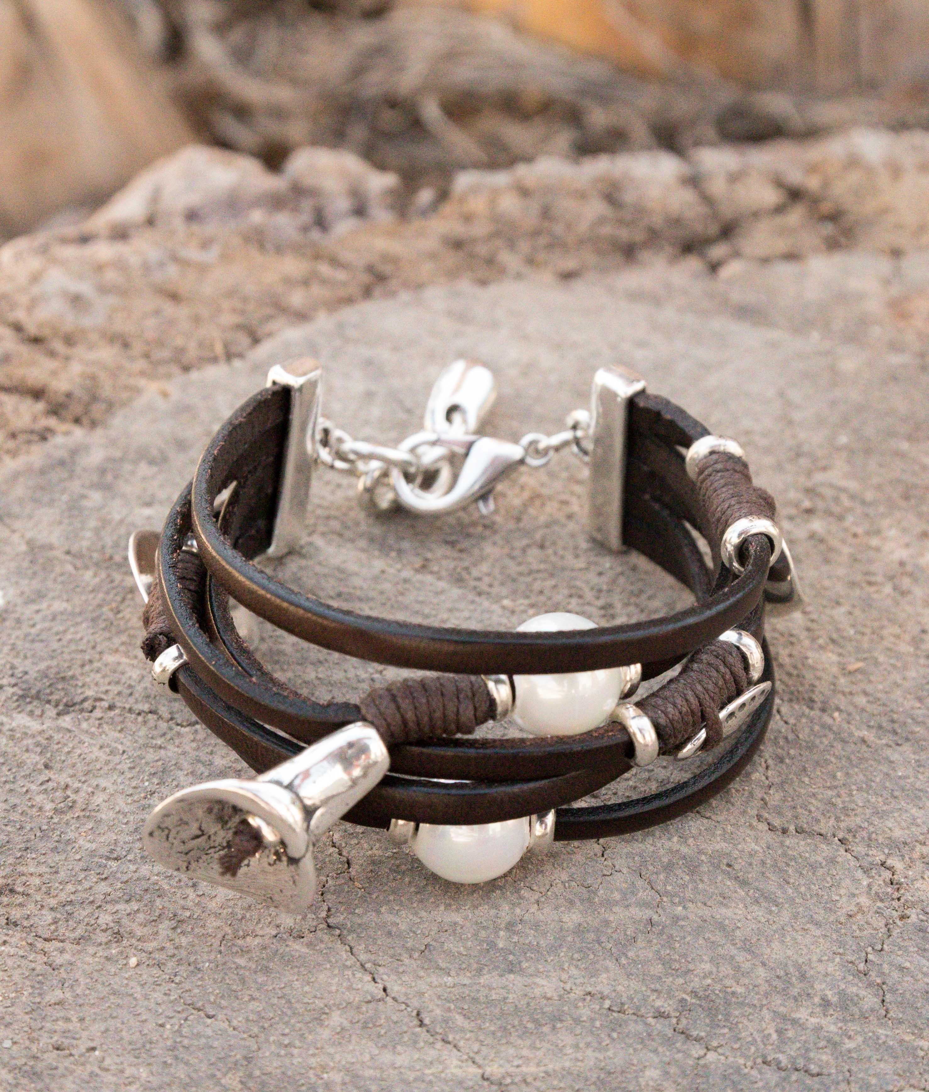 Bracelet Flor de Perla - Silver