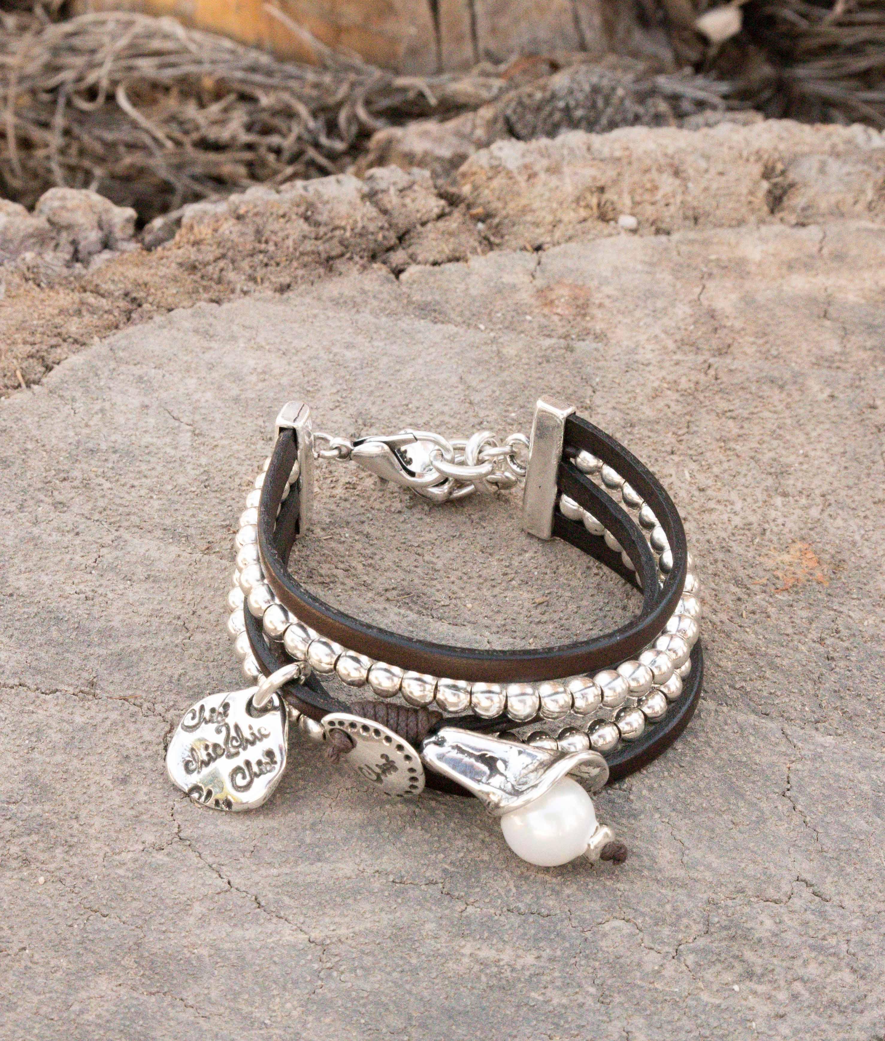 Bracelet Opio Perla - Argent