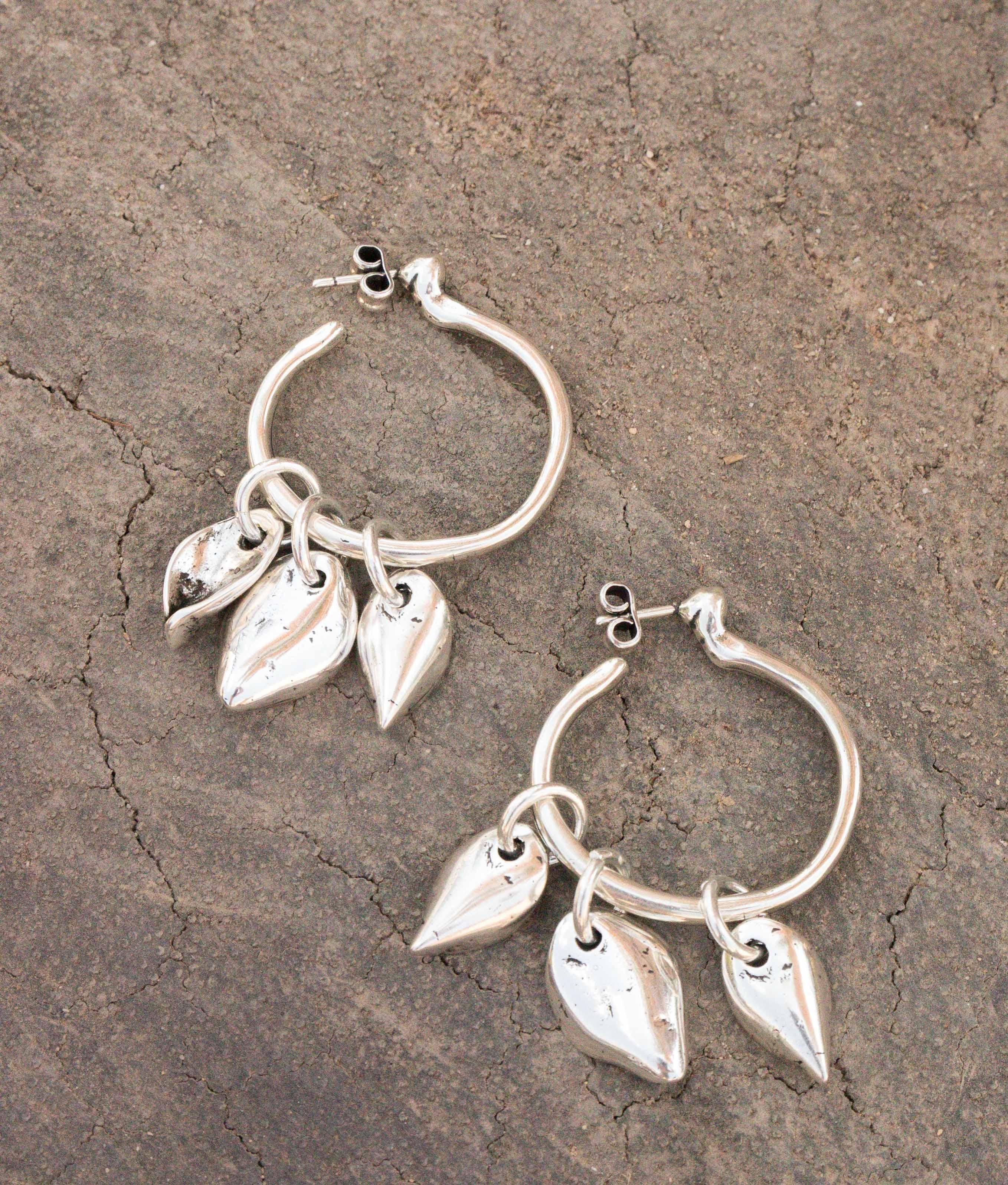 Earrings Bouquet - Silver