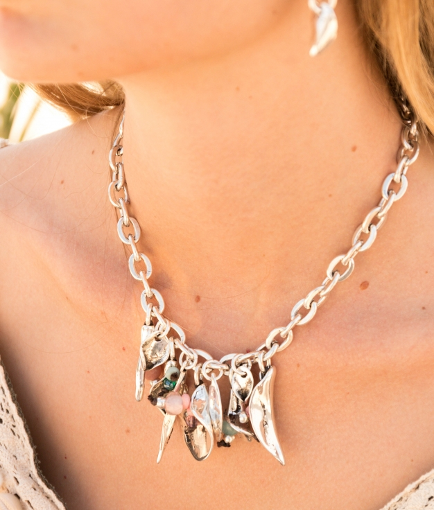 Necklace Bouquet - Silver