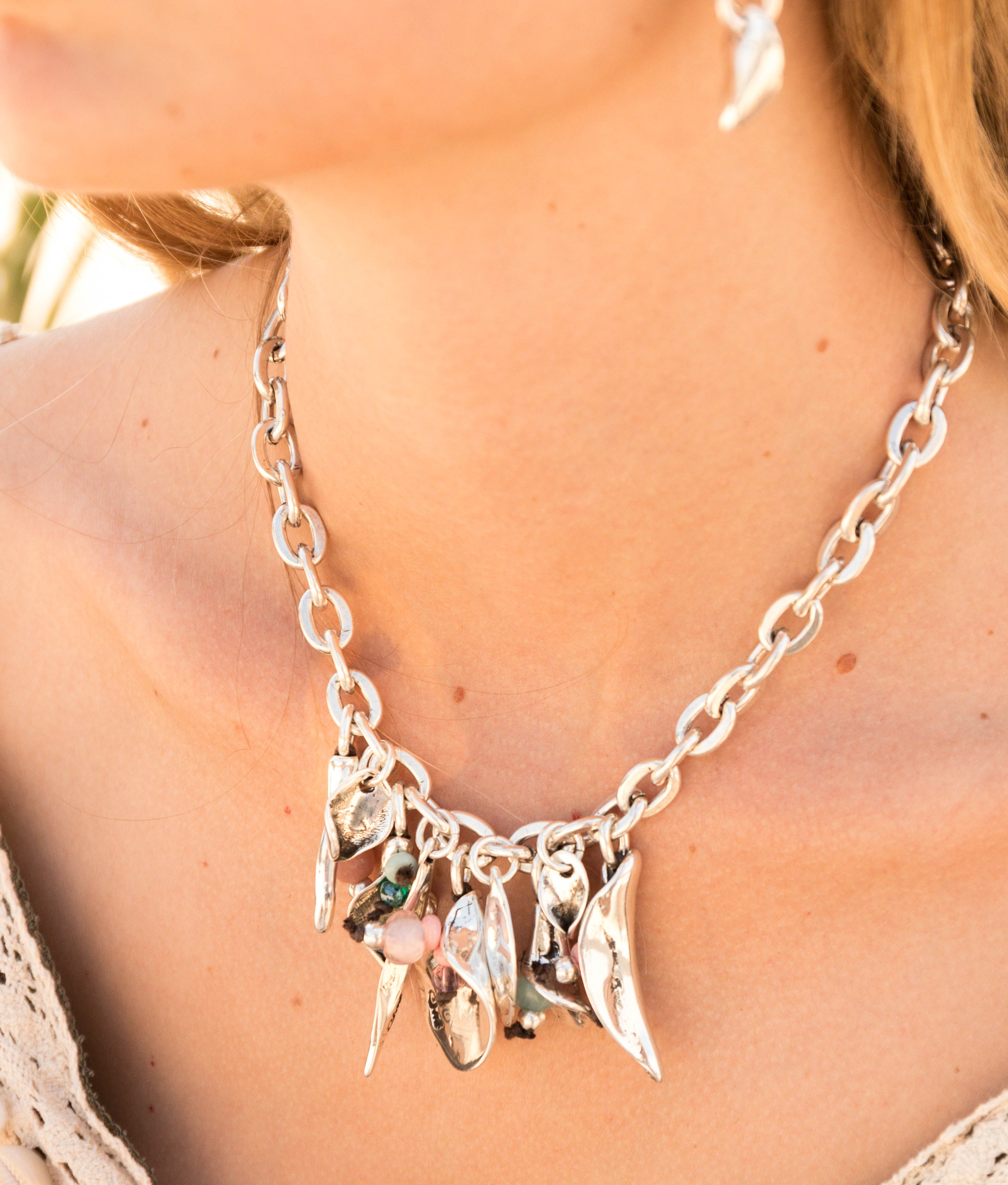 Collier Bouquet - Argent