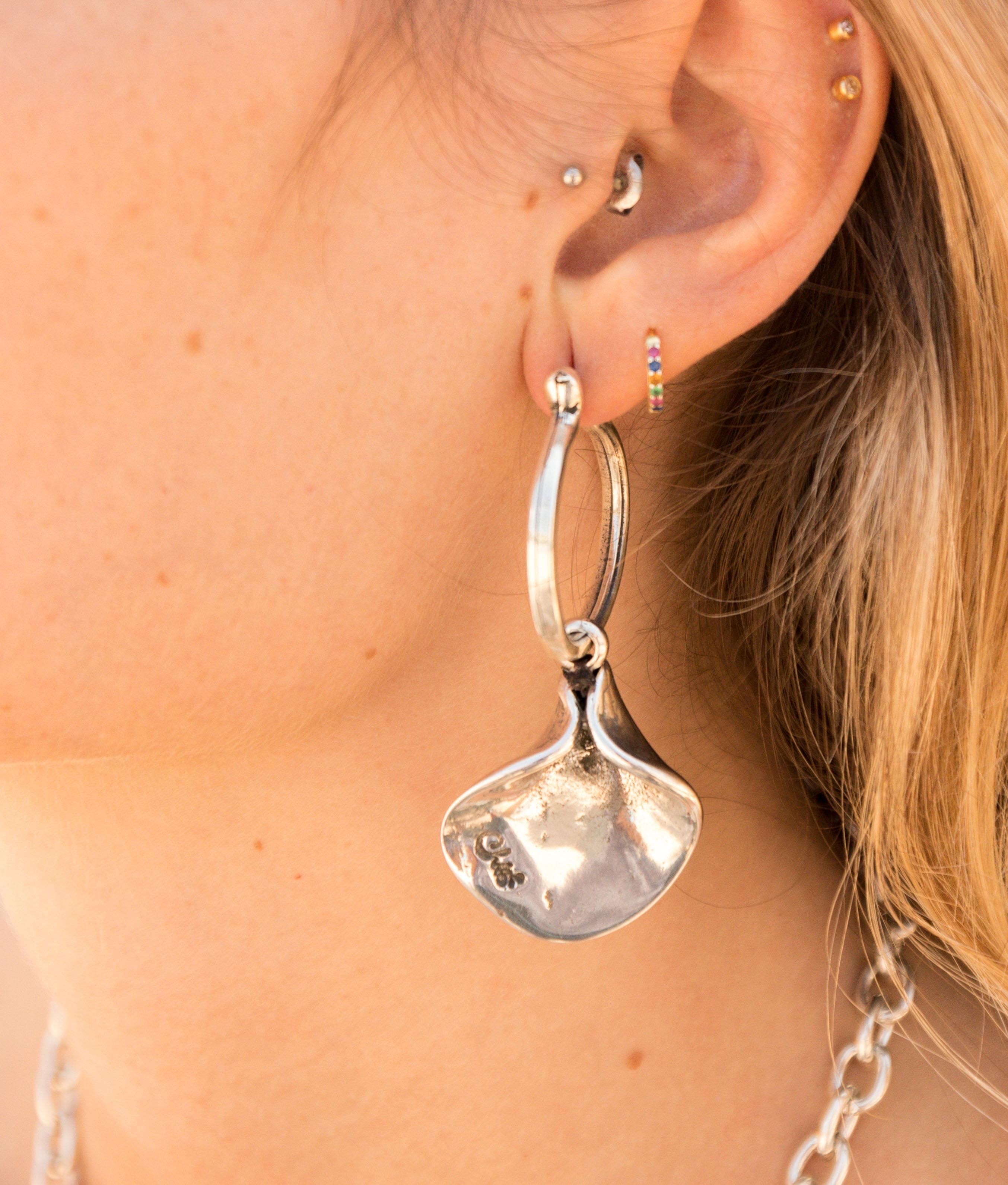 Earrings Magnolia - Silver
