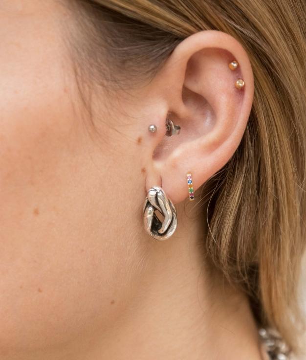 Earrings X las Ramas - Silver
