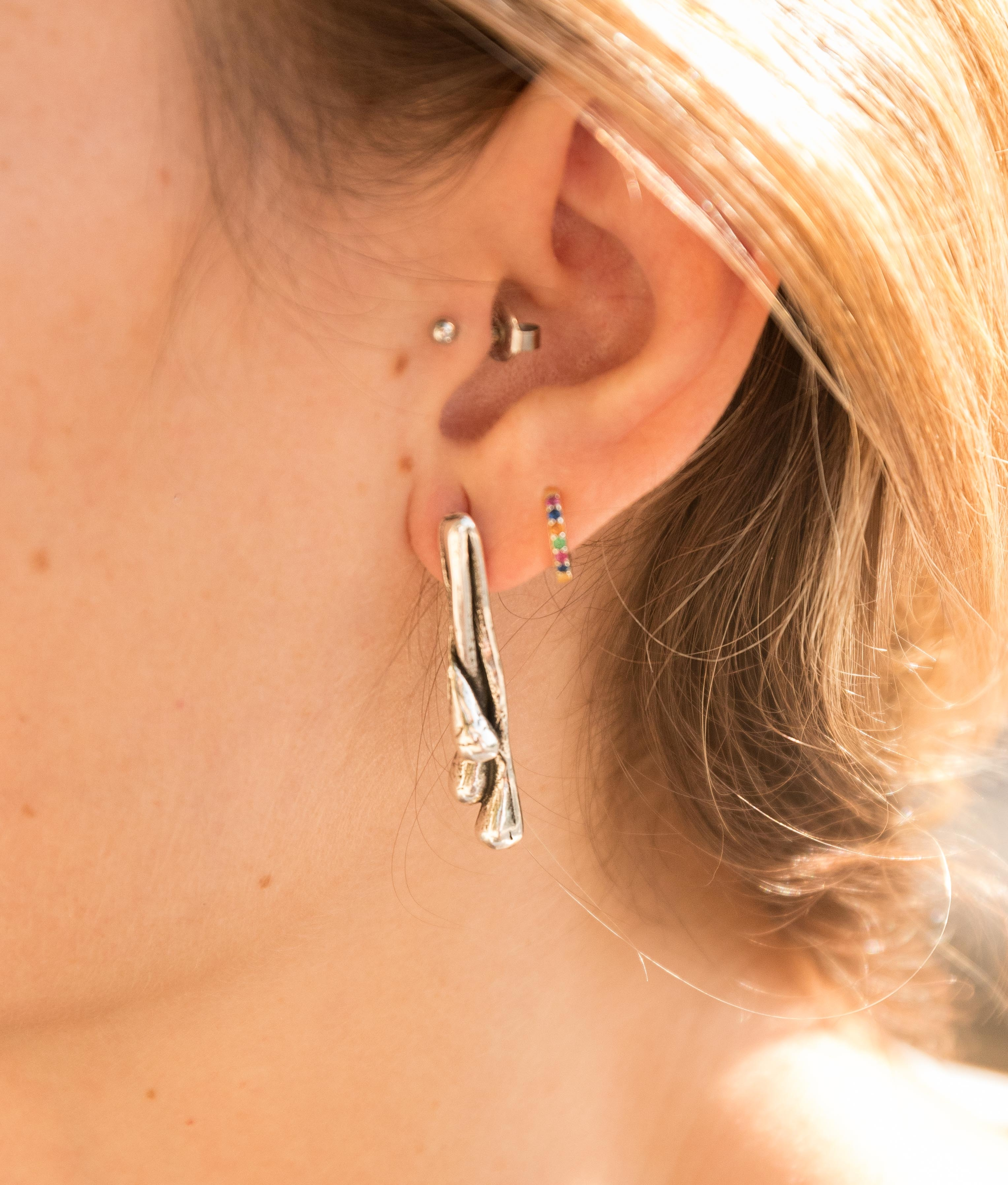 Earrings Brotes - Silver