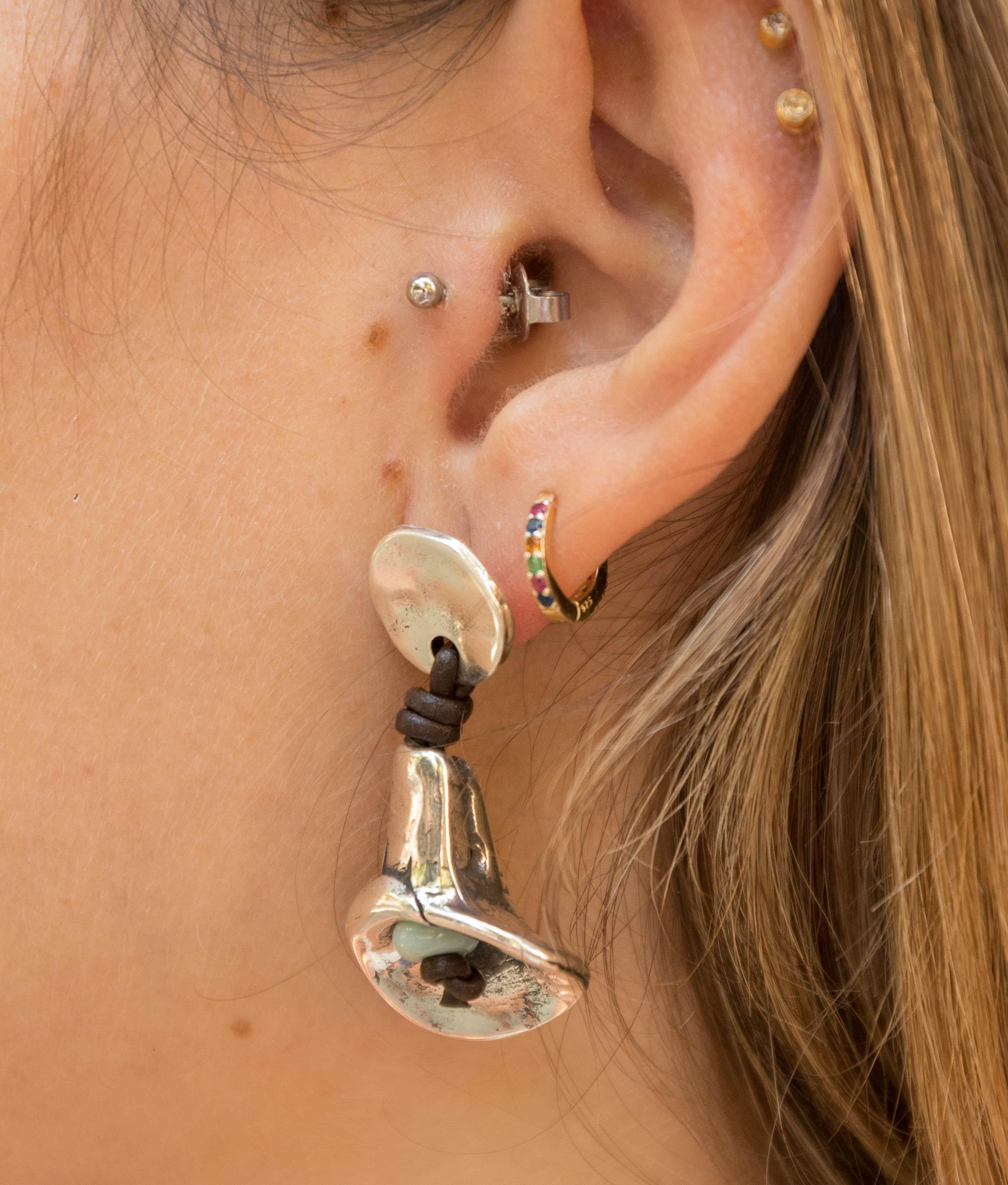 Earrings Belladona - Aquamarine