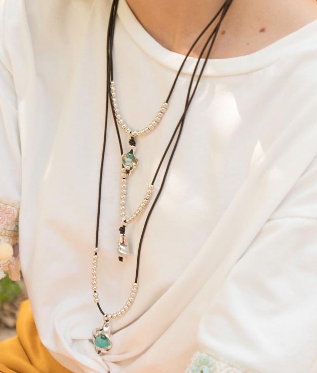 Necklace Belladona - Aquamarine
