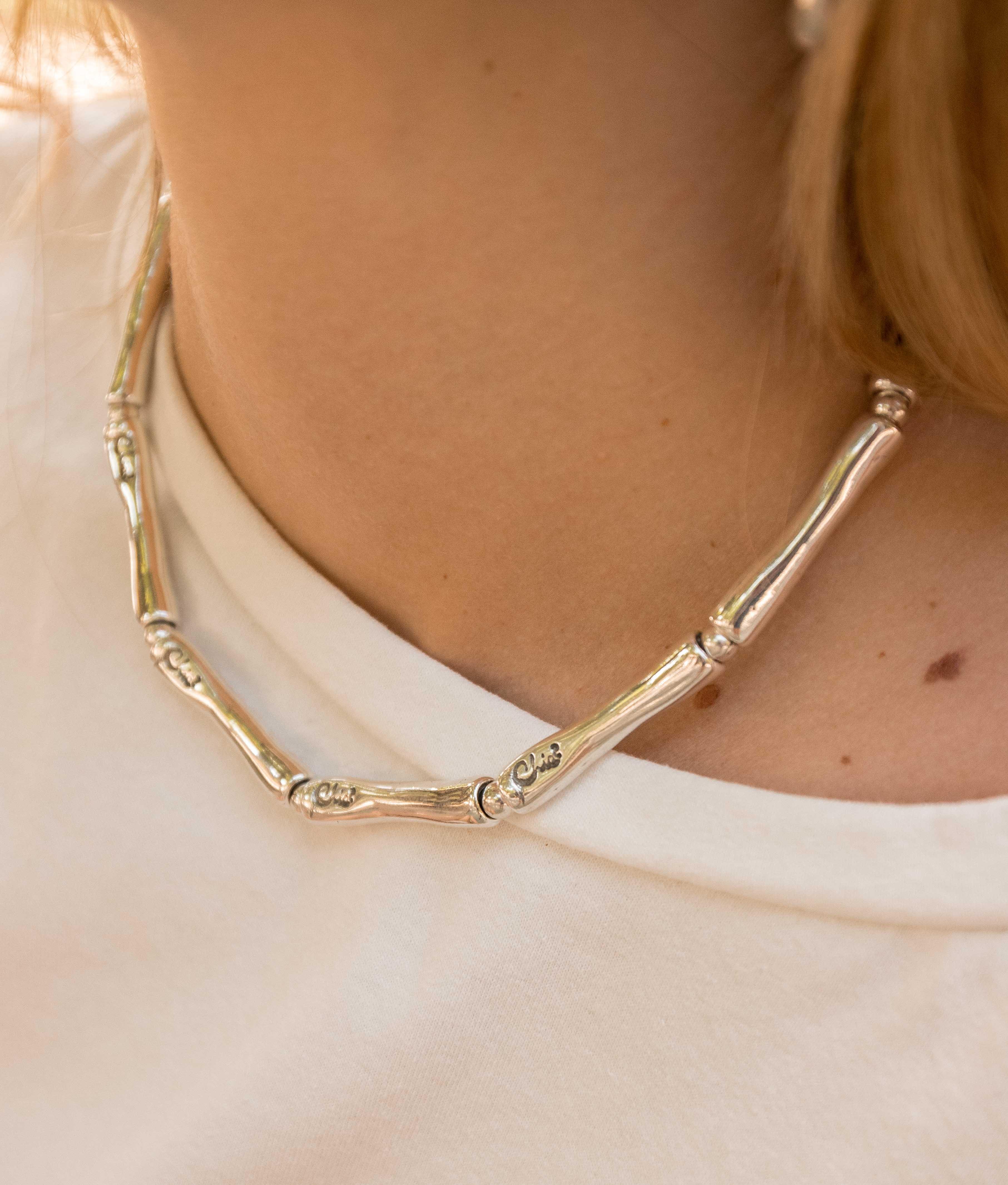 Collana Bambú - Argento