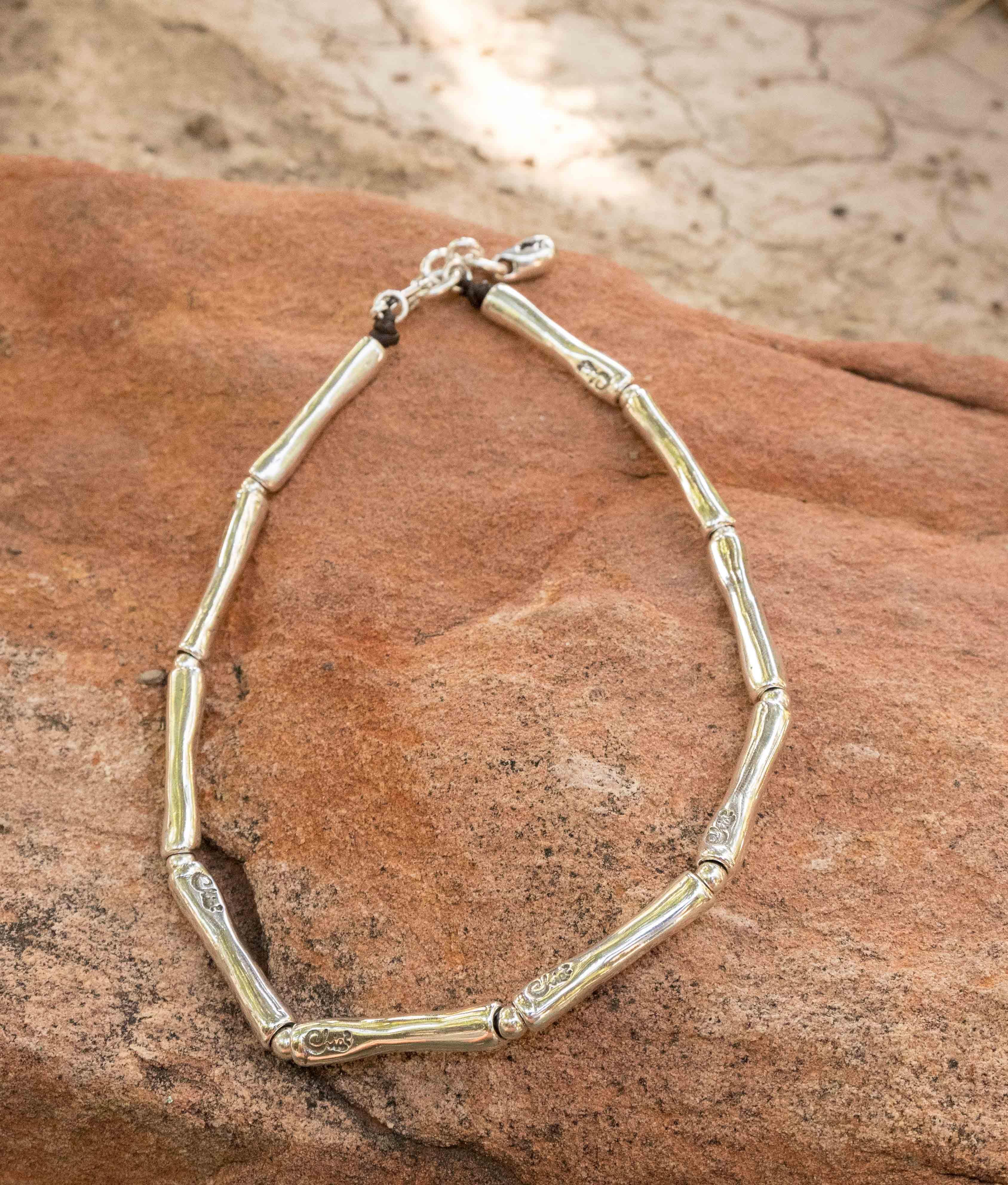 Necklace Bambú - Silver