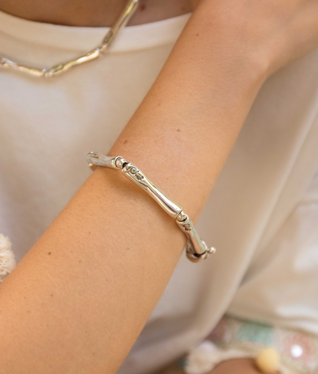 Bracelet Bambú - Silver