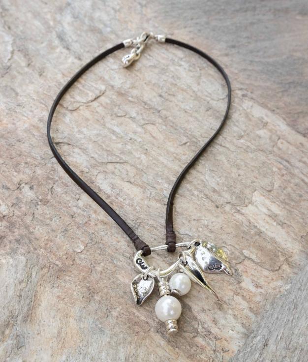 Necklace Primavera Perla - Silver