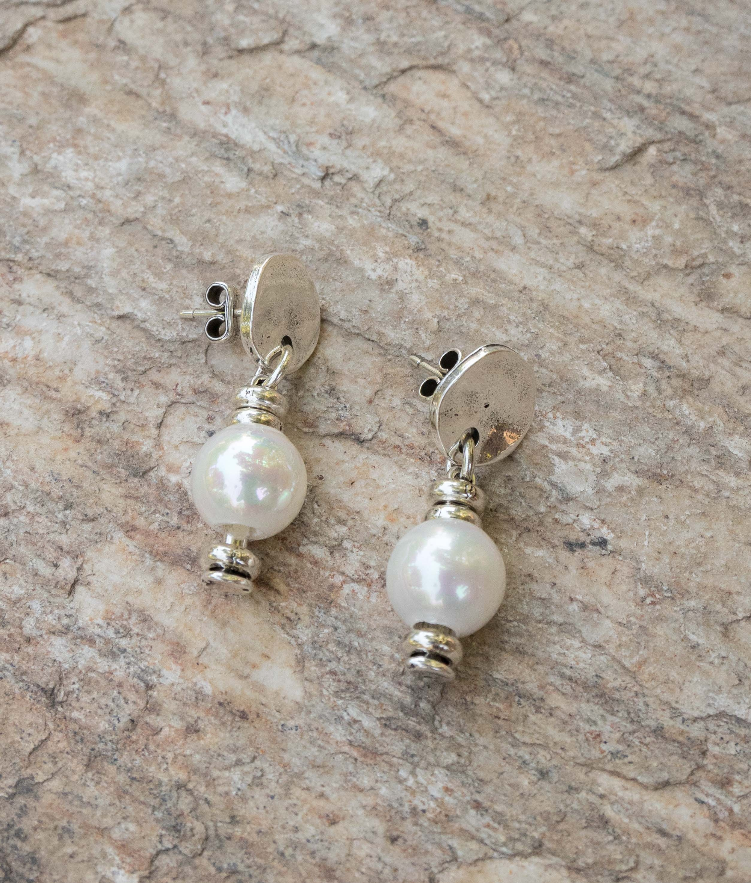 Earrings Primavera Perla - Silver