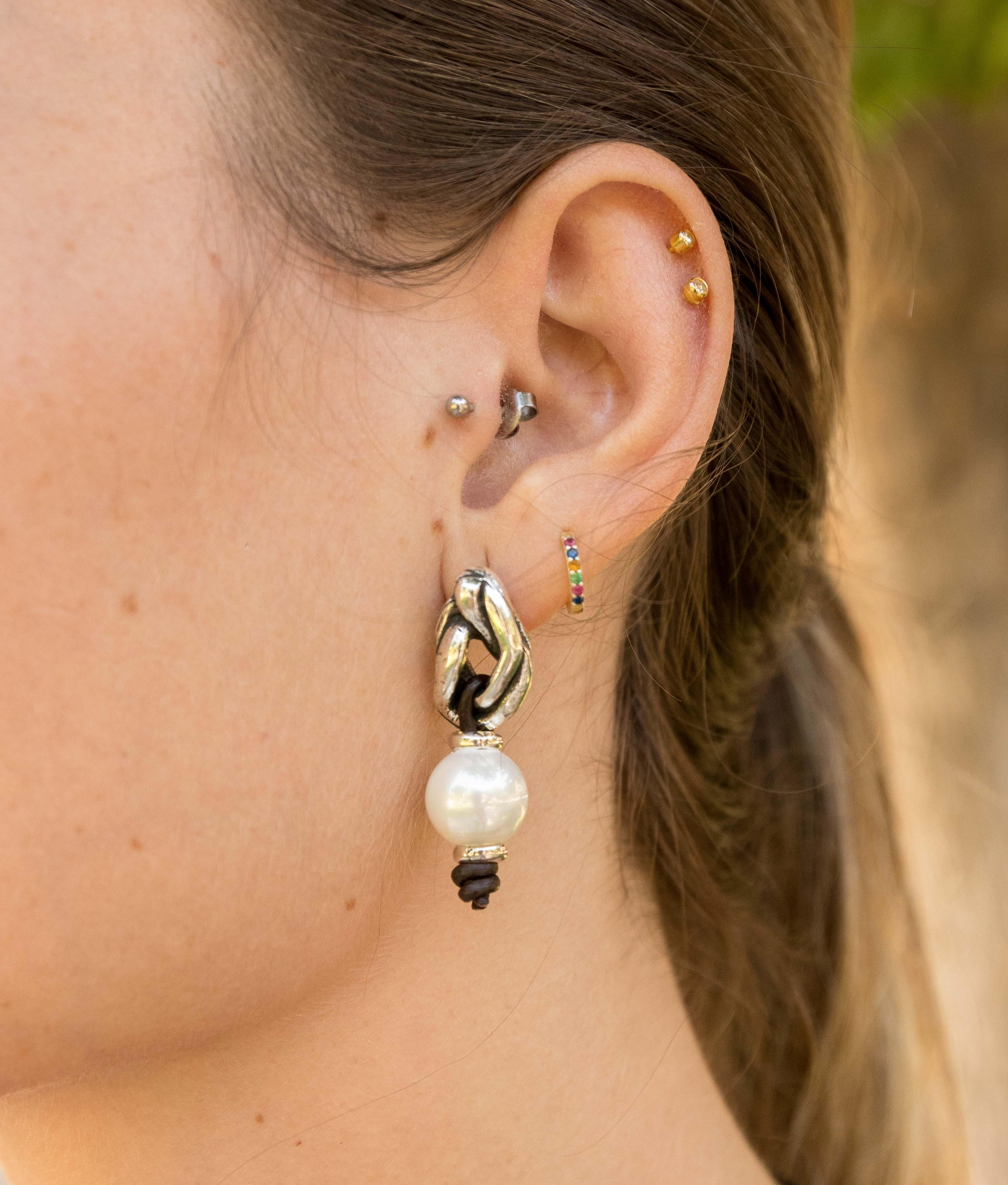 Earrings Bambú Peta-lo - Silver