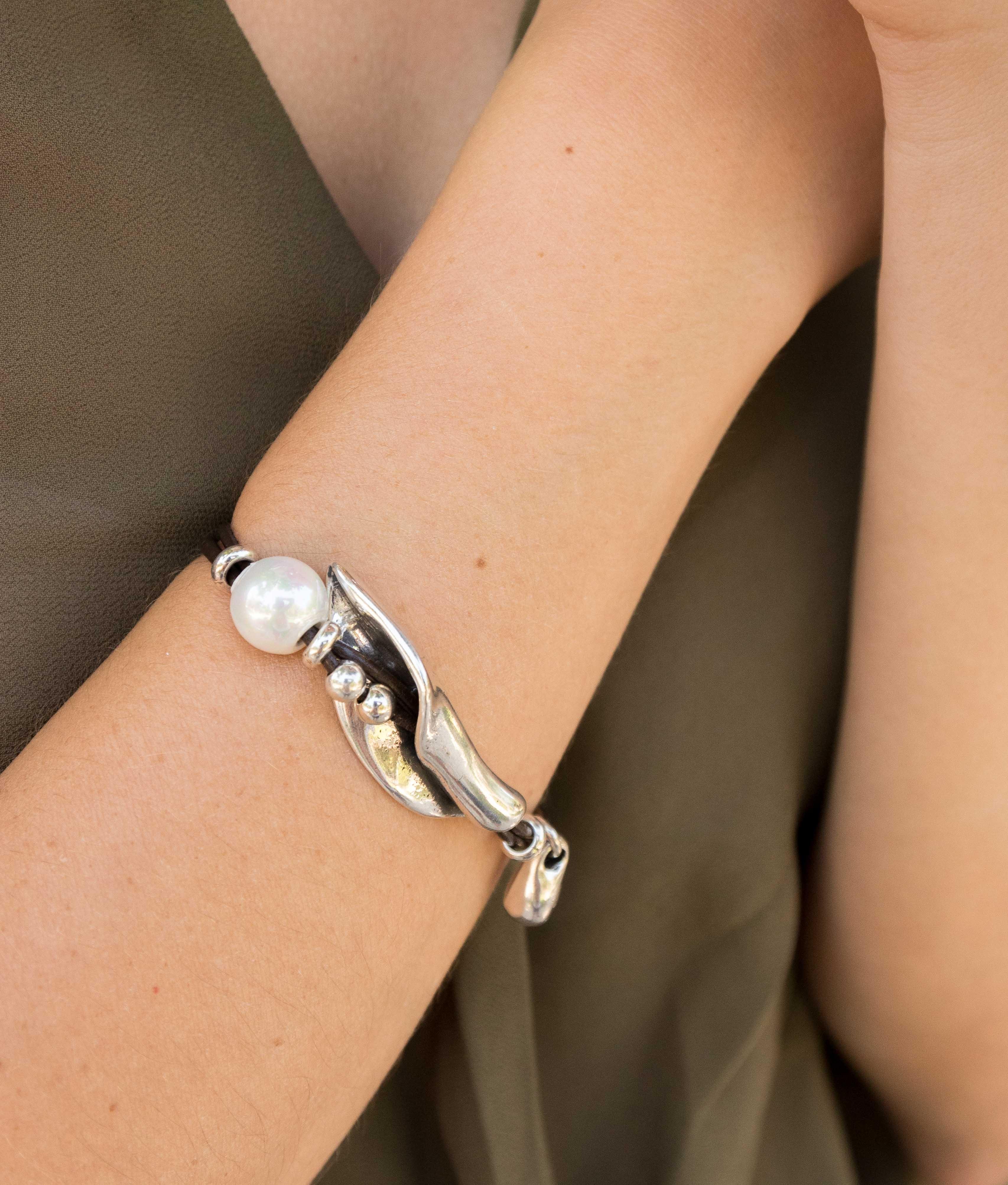 Bracelet Peta-lo Perla - Silver