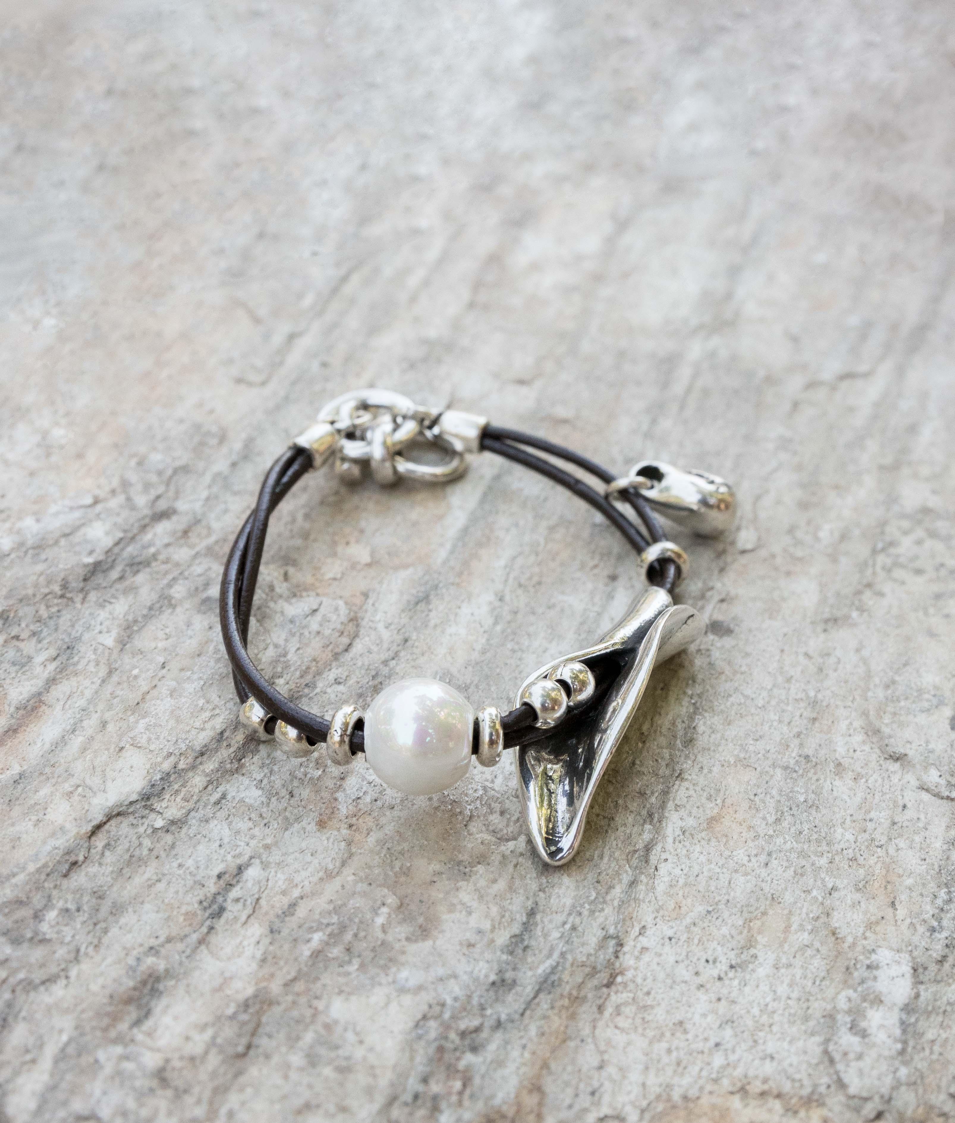 Braccialetto Peta-lo Perla - Argento
