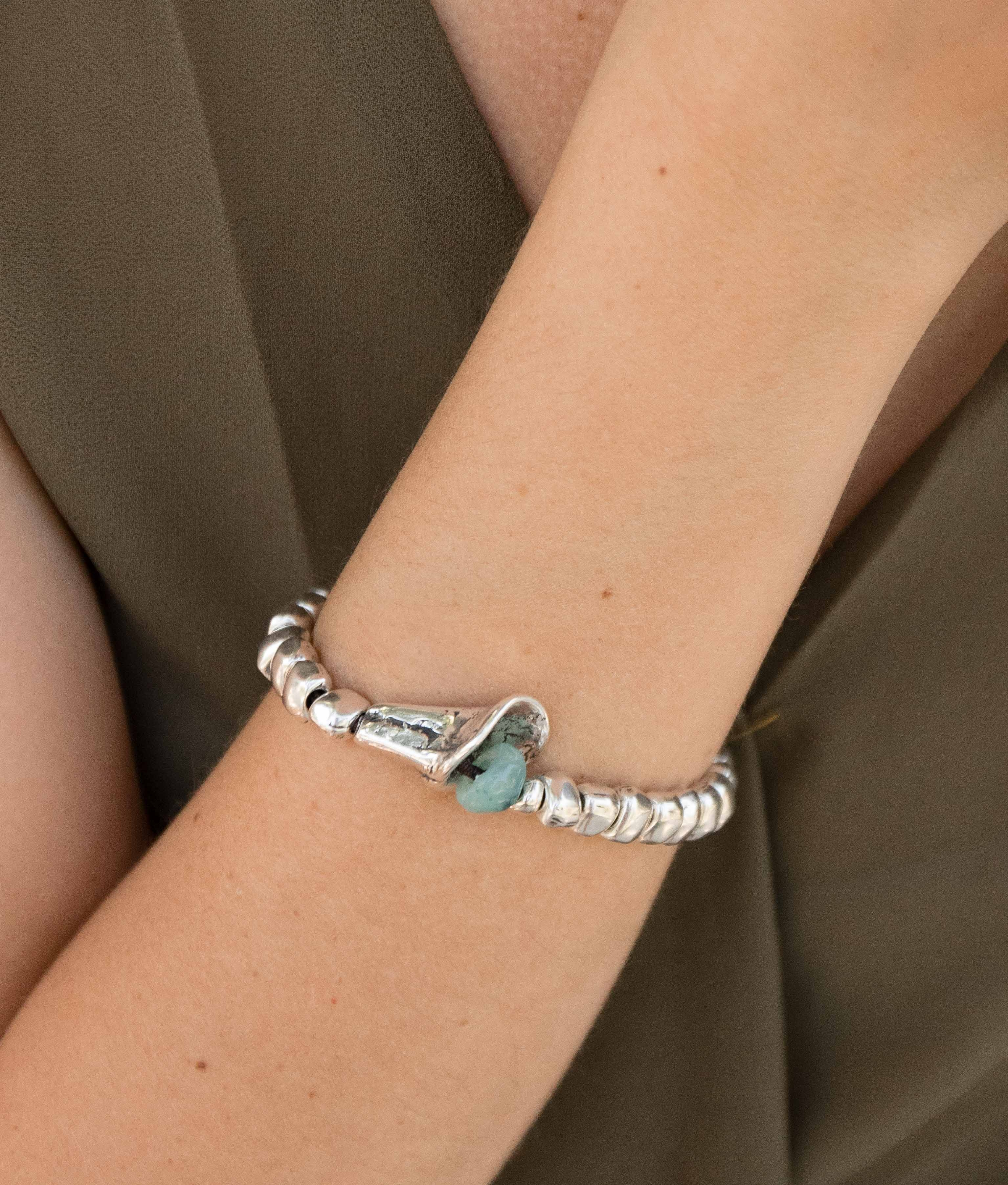 Bracelet Campánula - Aquamarine