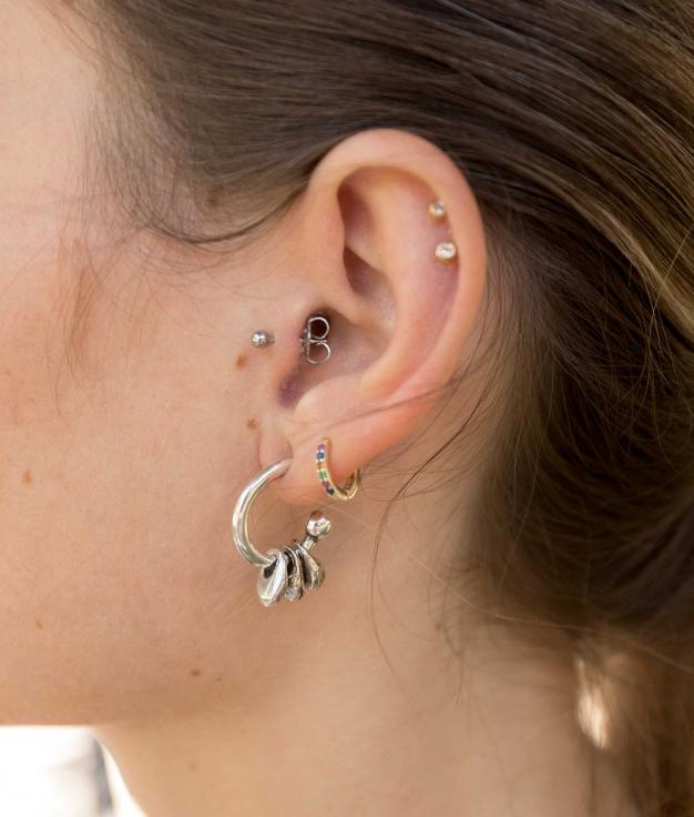 Earrings Campánula - Silver