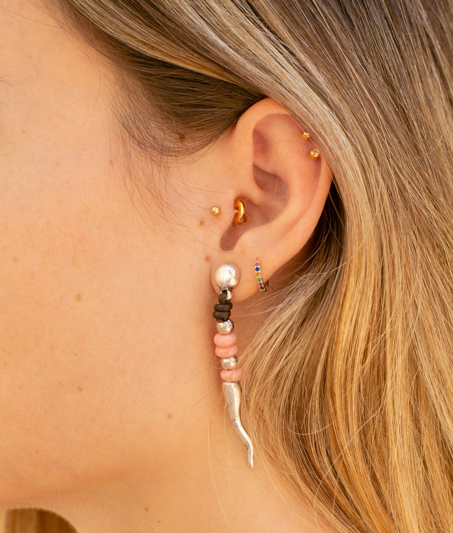Earrings Zarzamora - Rosa
