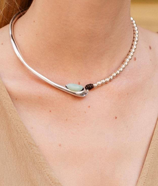 Necklace Baobab - Aquamarine