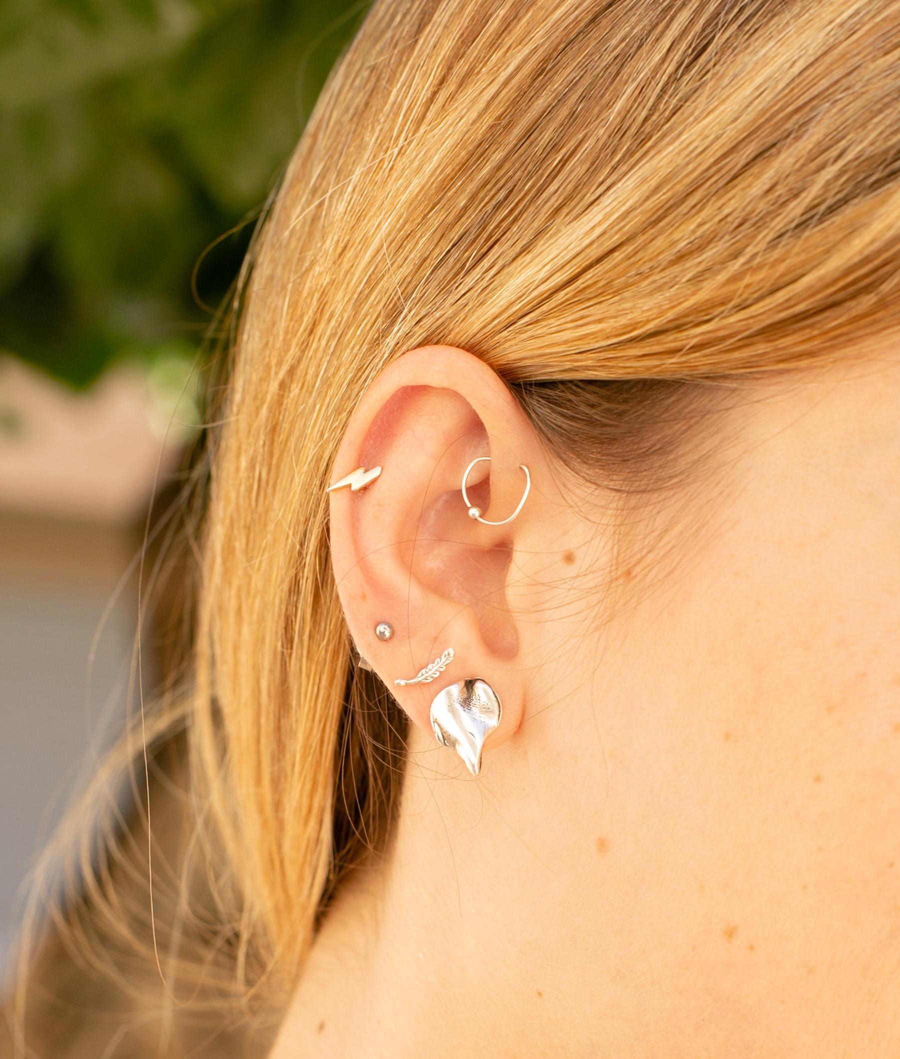 Earrings Hojarasca - Silver