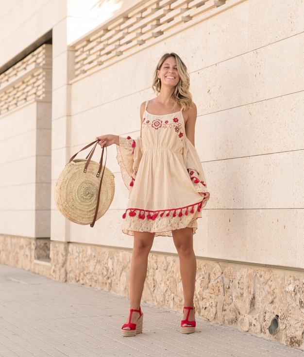 Vestido Somar - Bege Torrado