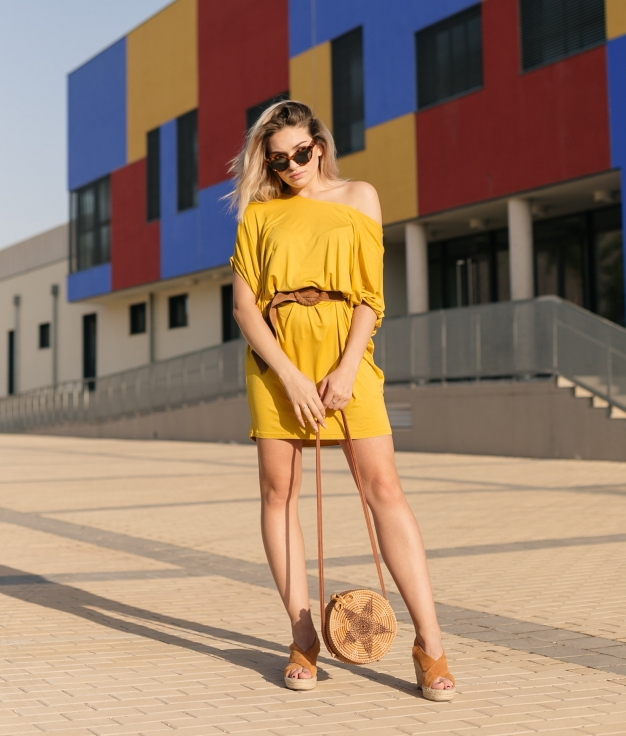 Dress Fabro - Yellow