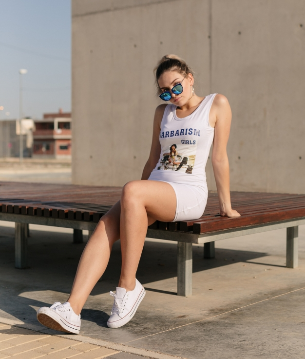 Dress Kenter - White