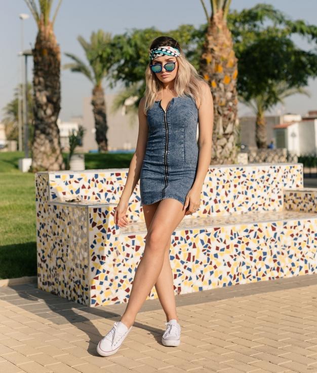 Vestido Taflun - Denim