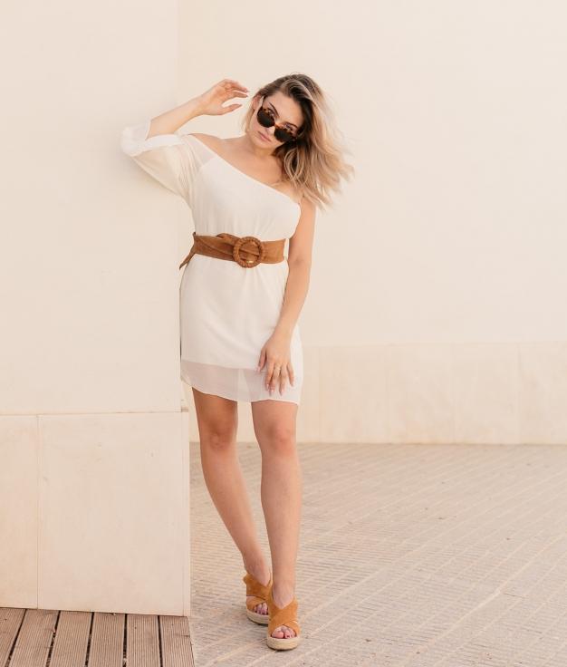 Dress Limet - White