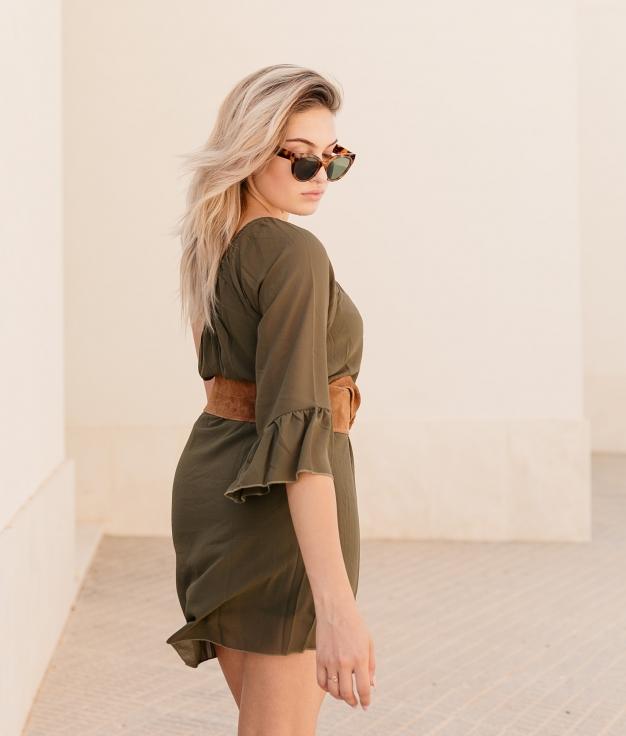 Dress Limet - Khaki