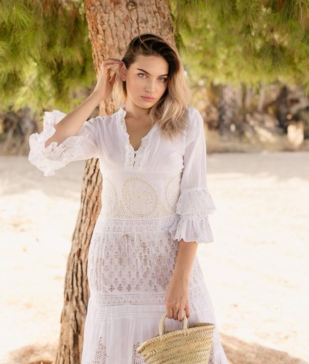 Dress Medil - White