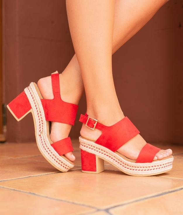 Sandália De Salto Nenti - Vermelho
