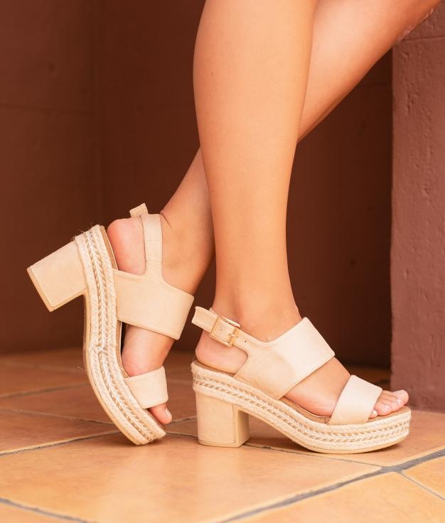 High Sandal Nenti - Beige