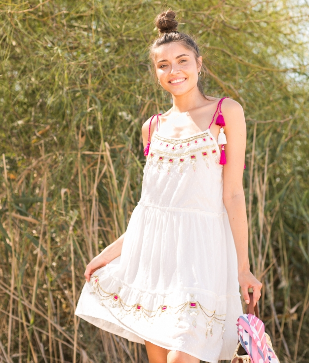Vestido Miduk - Fucsia