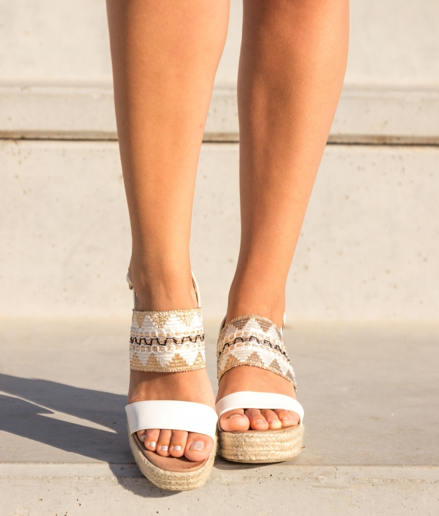 Sandale Talon Ocet - Blanc