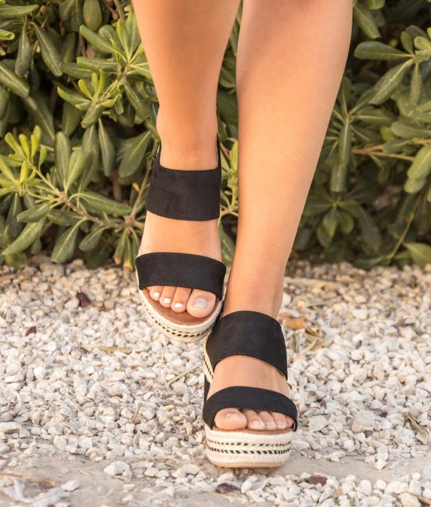 Sandalo Alta Nenti - Nero